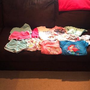 Girl shirt and shorts bundle